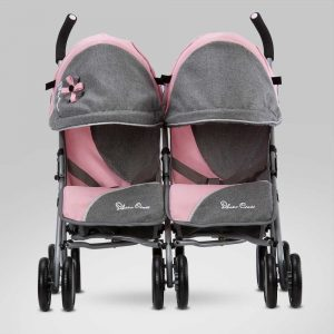Silver Cross Pop Twin Dolls Pushchair in Vintage Pink