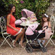 Silver Cross Pioneer 5 in 1 Dolls Pram in Vintage Pink