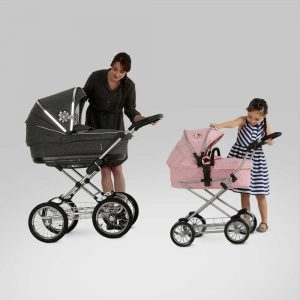 Silver Cross Sleepover Travel System Dolls Pram in Vintage Pink