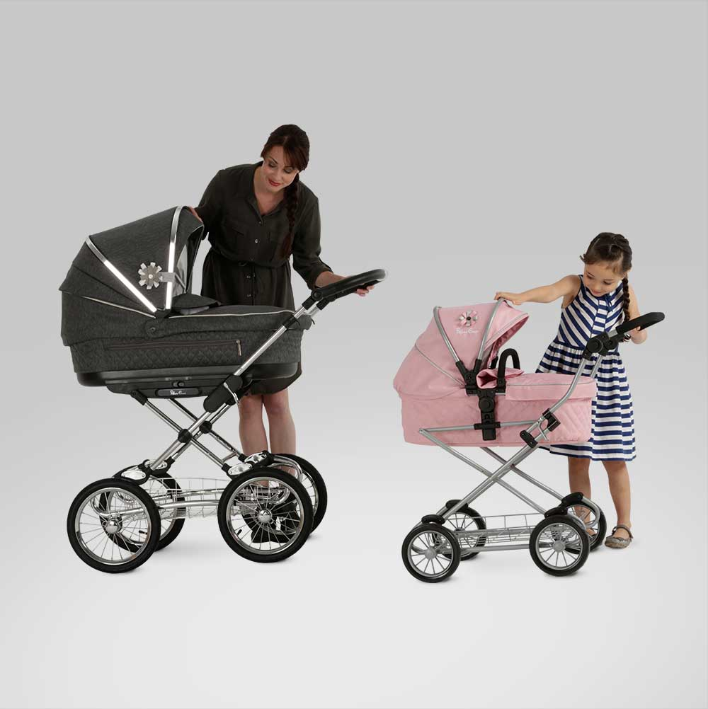 Silver Cross Sleepover Travel System Vintage Pink