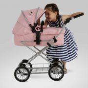 Silver Cross Sleepover Travel System Dolls Pram in Vintage Pink
