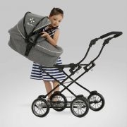 Silver Cross Sleepover Travel System Dolls Pram in Eton Grey
