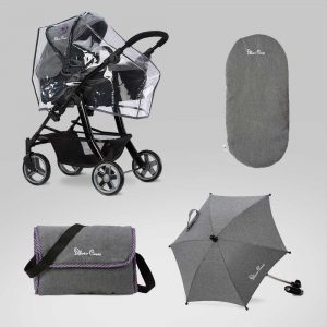 Silver Cross Ultimate Dolls Pram Accessory Pack in Eton Grey