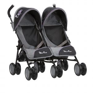 Silver Cross Pop Twin Dolls Pushchair in Eton Grey