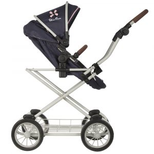 Silver Cross Sleepover Travel System Dolls Pram in Vintage Blue