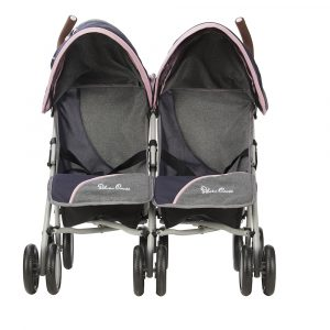 Silver Cross Pop Twin Dolls Pushchair in Vintage Blue