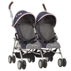 Silver Cross Pop Twin Max Dolls Pushchair in Vintage Blue