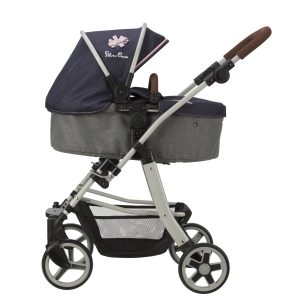Silver Cross Pioneer 5 in 1 Dolls Pram in Vintage Blue