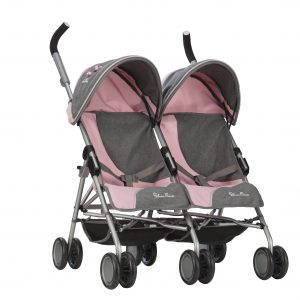 Silver Cross Pop Twin Max Dolls Pushchair in Vintage Pink