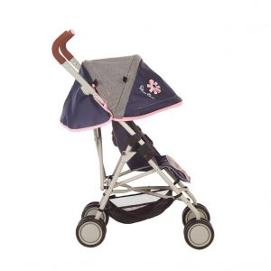 Silver Cross Pop Max Dolls Pushchair in Vintage Blue