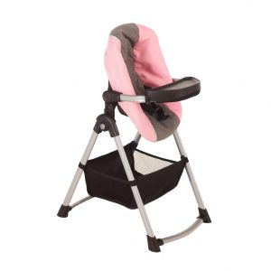 Silver Cross Simplicity 4 in 1 Dolls High Chair in Vintage Pink