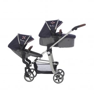 Silver Cross Wave Dolls Pram in Vintage Blue